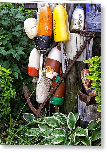 Buoy Greeting Cards - Nautical Theme Greeting Card by Bill  Wakeley
