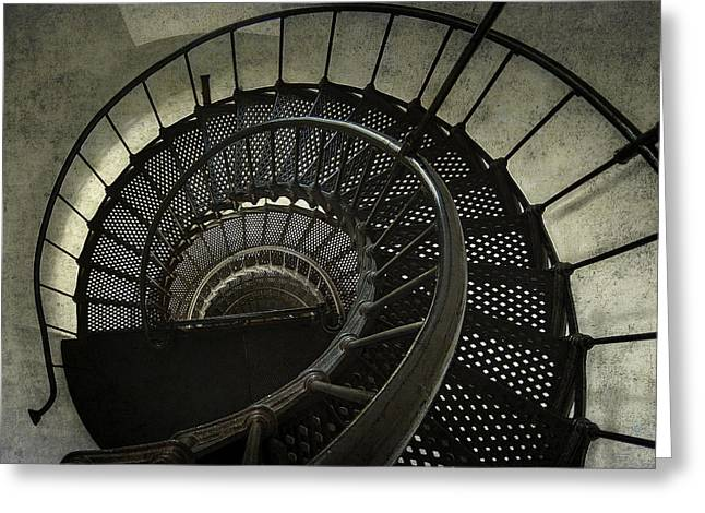 Best Sellers -  - Dungeons Greeting Cards - Nautilus Stairway Greeting Card by Daniel Hagerman