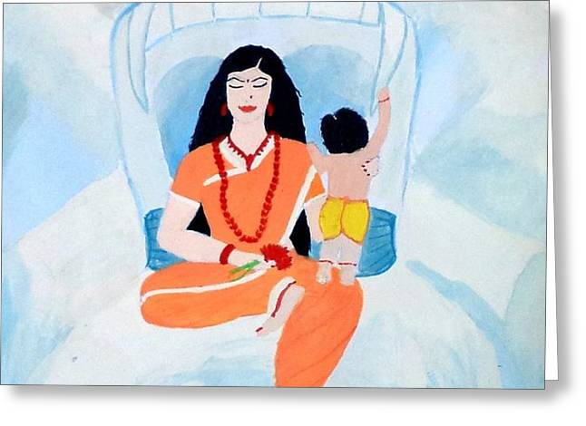 Nava Durga Skandmata Greeting Card by Pratyasha Nithin