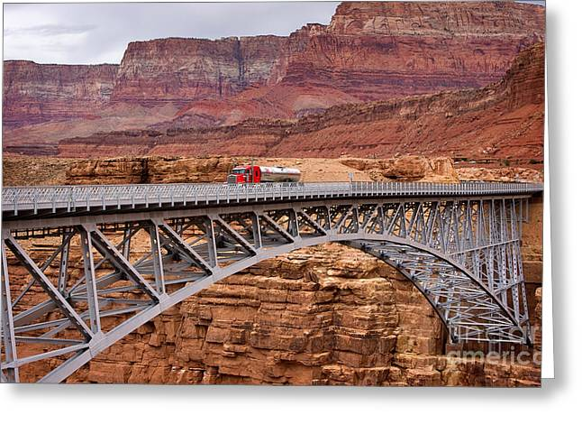 Travel Photographs Greeting Cards - Navajo Bridge Greeting Card by Louise Heusinkveld