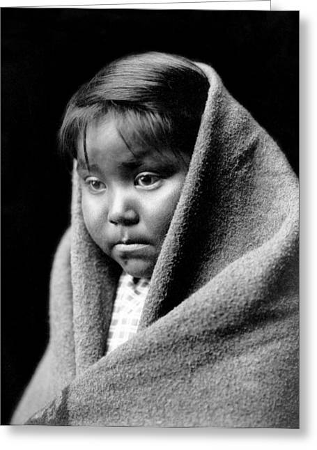 1904 Greeting Cards - Navajo Child Greeting Card by Aged Pixel
