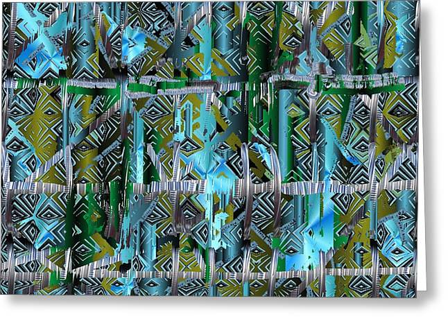 Gift Tapestries - Textiles Greeting Cards - Brooklyn Bridge Greeting Card by Claire Masters