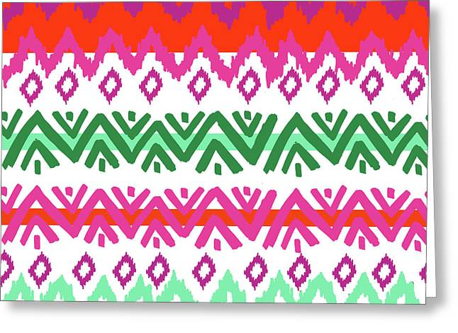 Navajo Mission Round Greeting Card by Nicholas Biscardi