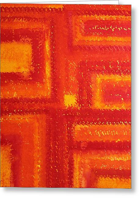 Pen And Paper Greeting Cards - Navajo Rug original painting Greeting Card by Sol Luckman