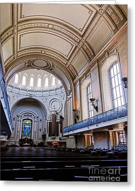 Naval Academy Chapel Interior Greeting Card by Olivier Le Queinec