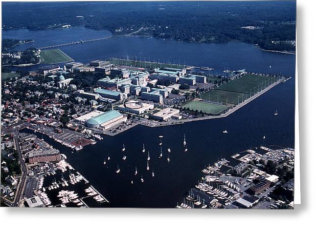 Chesapeake Bay Greeting Cards - Naval Academy Greeting Card by Skip Willits