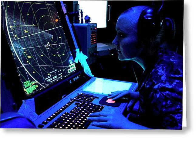 Naval Air Traffic Control Greeting Card by Us Air Force/gretchen M. Albrecht