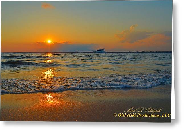 Navarre Beach Photographs Greeting Cards - Navarre Beach FL Sunset 2013 06 07 Greeting Card by Mark Olshefski