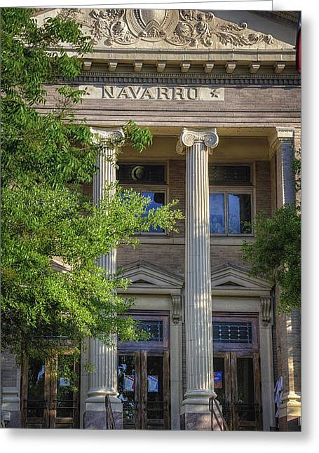 Clerk Greeting Cards - Navarro County Courthouse Greeting Card by Joan Carroll