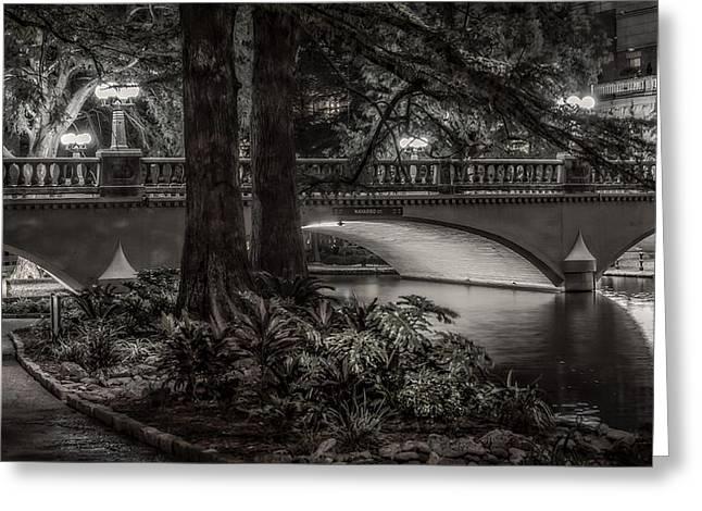 Navarro Street Bridge At Night Greeting Card by Steven Sparks