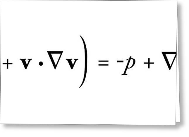 Navier-stokes Equation Greeting Card by Science Photo Library