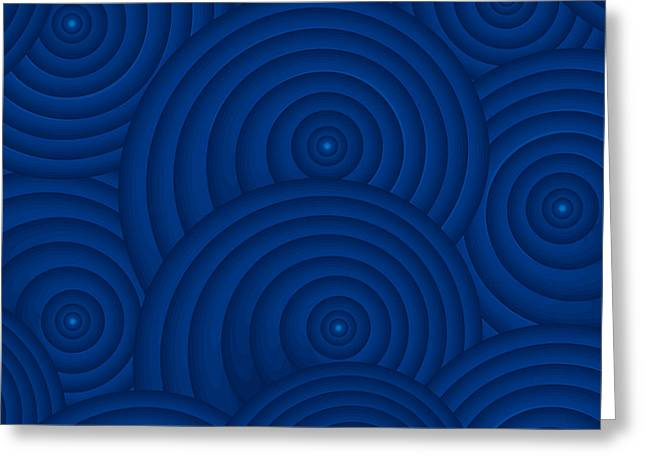 Navy Blue Abstract Greeting Card by Frank Tschakert