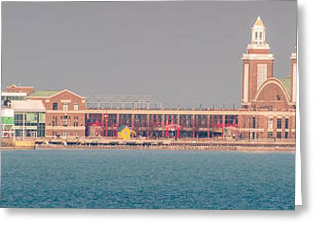 Navy Pier Brief Greeting Card by Cliff C Morris Jr