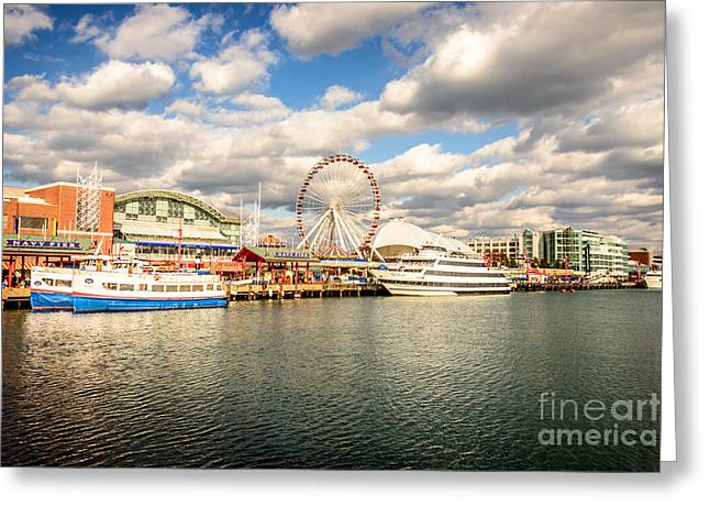Chicago Prints Greeting Cards - Navy Pier Chicago Photo Greeting Card by Paul Velgos