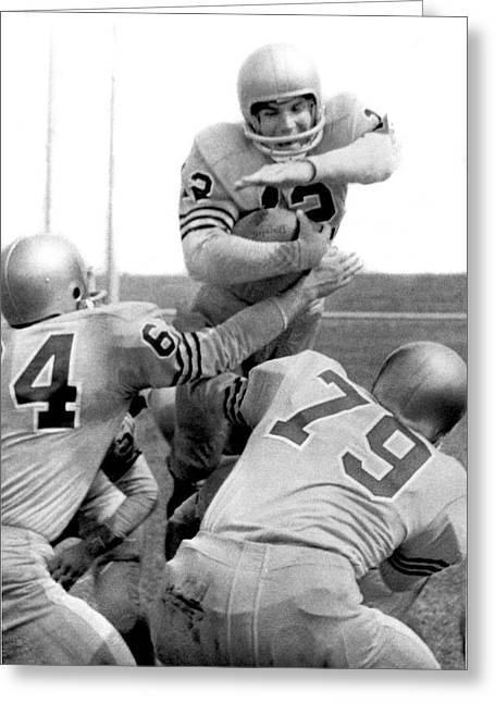 Navy Quarterback Staubach Greeting Card by Underwood Archives