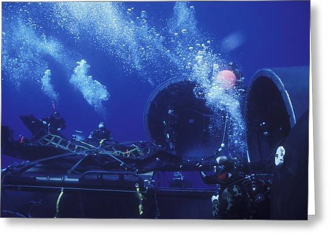 Navy Seals Disconnect The Harness Greeting Card by Michael Wood