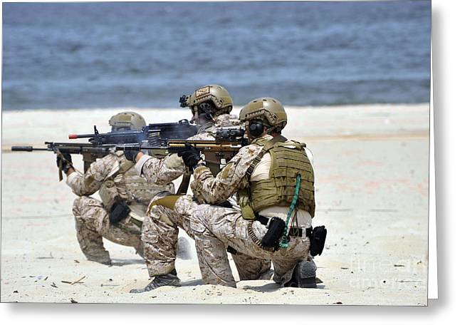 Navy Seal Greeting Cards - Navy Seals Participate Greeting Card by Stocktrek Images