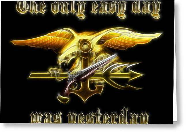 Navy Seals Greeting Cards - Navy Seals Greeting Card by Ricky Barnard