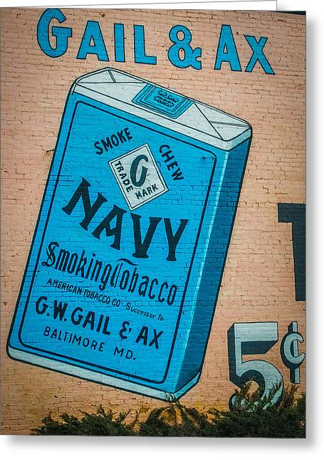 5 Cents Greeting Cards - Navy Smoking Tobacco Greeting Card by Paul Freidlund