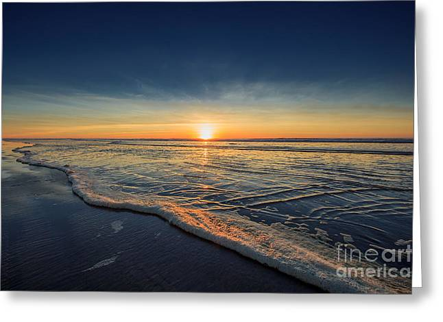 Sunset Prints Photographs Greeting Cards - Navy Sunset Greeting Card by Lucid Mood