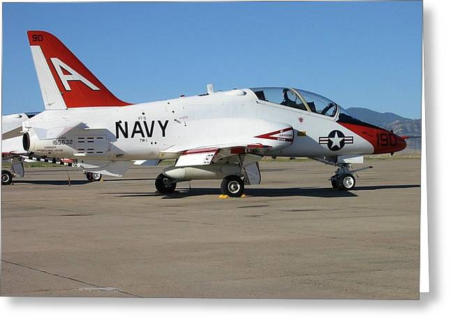 Navy T-45 Goshawk Greeting Card by Steven Parker