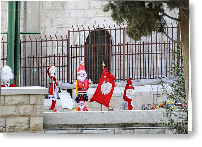 Nazareth Is Getting Ready For Christmas Greeting Card by Arik Baltinester