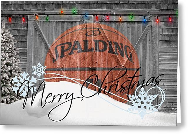 Basketballs Greeting Cards - Nba Basketball Greeting Card by Joe Hamilton