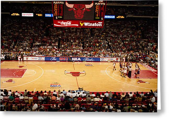 Vs Greeting Cards - Nba Finals Bulls Vs Suns, Chicago Greeting Card by Panoramic Images