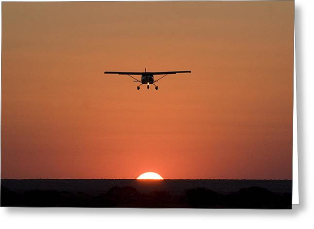 Northern Africa Greeting Cards - NC Sunset Greeting Card by Paul Job