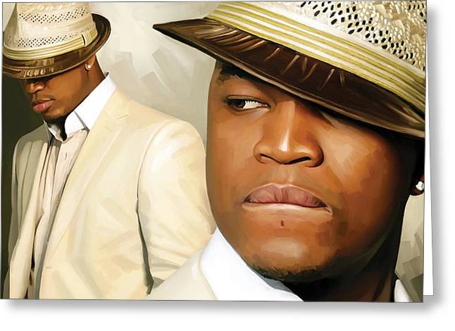 Ne Greeting Cards - Ne-Yo Artwork Greeting Card by Sheraz A
