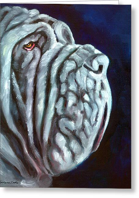 Neapolitan Greeting Cards - Neapolitan Mastiff Rufio Greeting Card by Lyn Cook