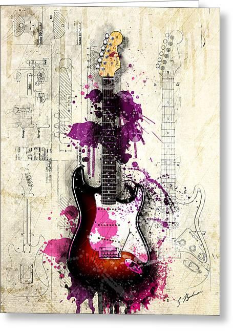 Fender Strat Greeting Cards - Neapolitan Strat Greeting Card by Gary Bodnar