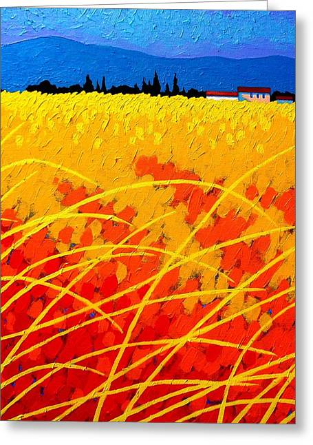 Print Card Greeting Cards - Near Carcassonne  Greeting Card by John  Nolan
