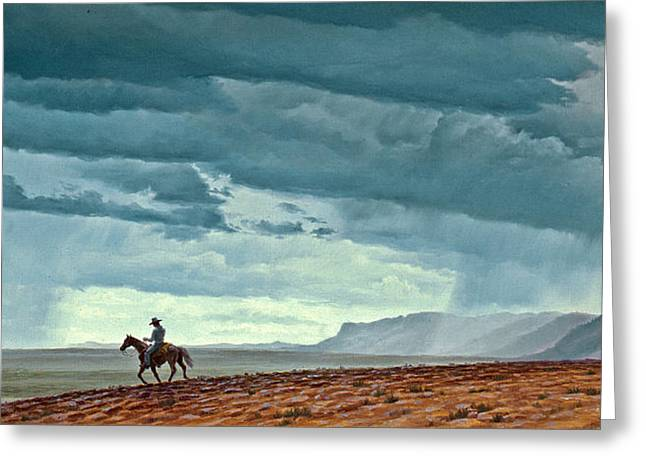 Cloudscape Greeting Cards - Near Carlesbad Greeting Card by Paul Krapf