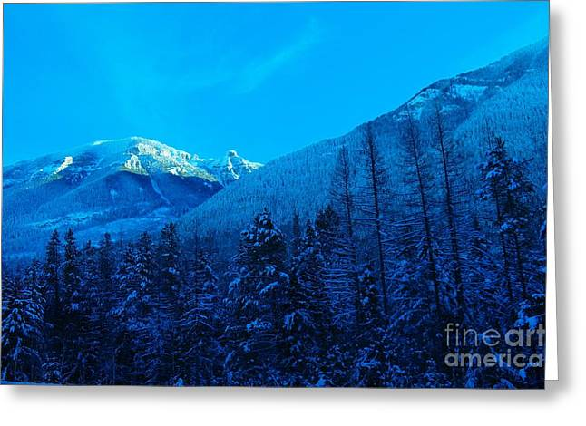 Canadian Winter Art Greeting Cards - Near Fernie British Columbia  Greeting Card by Jeff  Swan