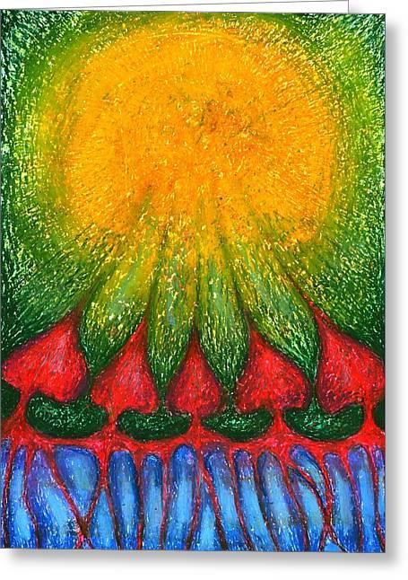 Nearer Sun Greeting Card by Wojtek Kowalski