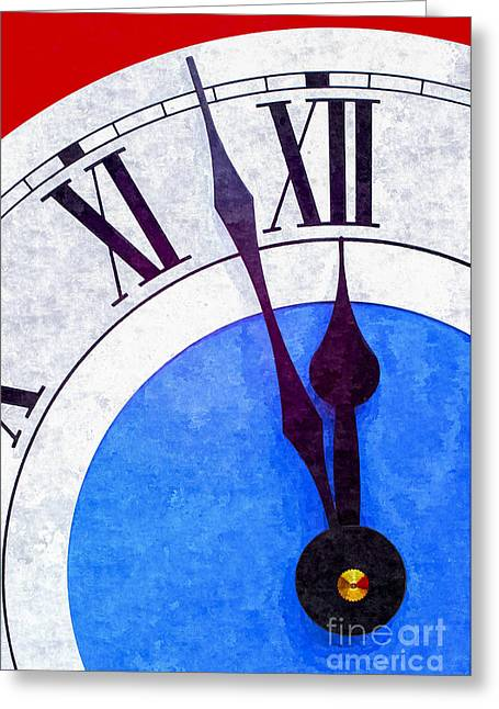 Clock Photographs Greeting Cards - Nearly Midnight Greeting Card by Colin and Linda McKie