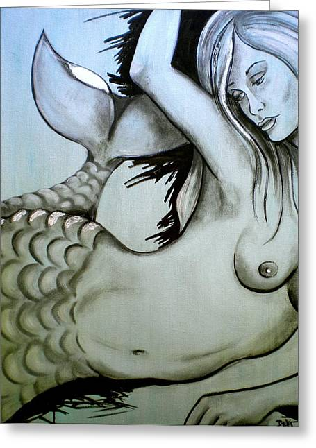 Curvy Beauties Greeting Cards - Nearly Naked Sea Pearl Greeting Card by Debi Starr
