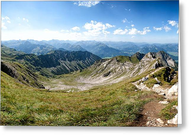 Deutschland Greeting Cards - Nebelhorn Greeting Card by Andreas Freund