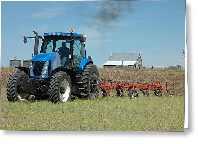 Winter Wheat Greeting Cards - Nebraska Dry Land Farming Greeting Card by Jerry McElroy
