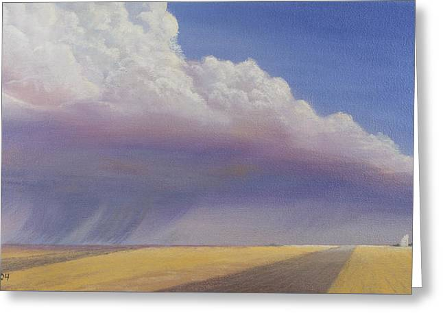 Cloudscapes Greeting Cards - Nebraska Vista Greeting Card by Jerry McElroy