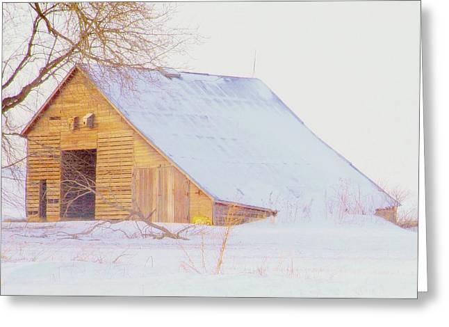 Tennessee Barn Greeting Cards - Nebraska Winters.. Greeting Card by Al  Swasey