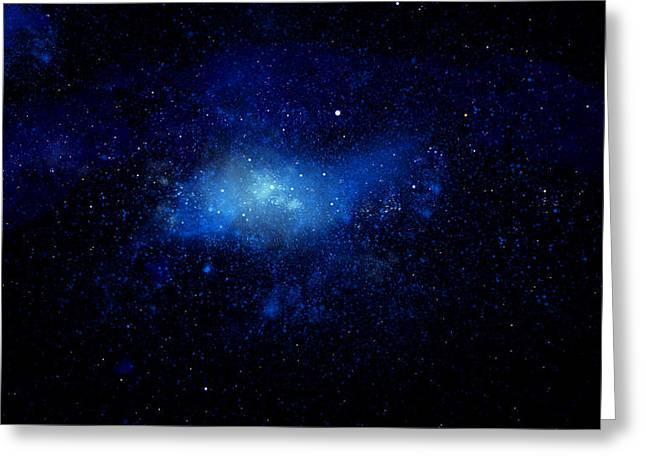 Nebula Ceiling Mural Greeting Card by Frank Wilson