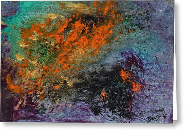 Glass Beads Greeting Cards - Nebula Cloud  Greeting Card by Donna Blackhall