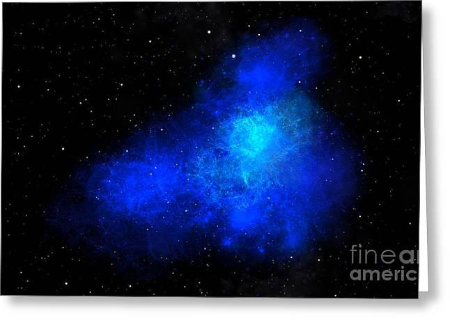 Glow Murals Greeting Cards - Nebula III Greeting Card by Frank Wilson