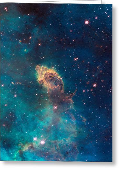 Interstellar Space Paintings Greeting Cards - Nebula Greeting Card by Nasa