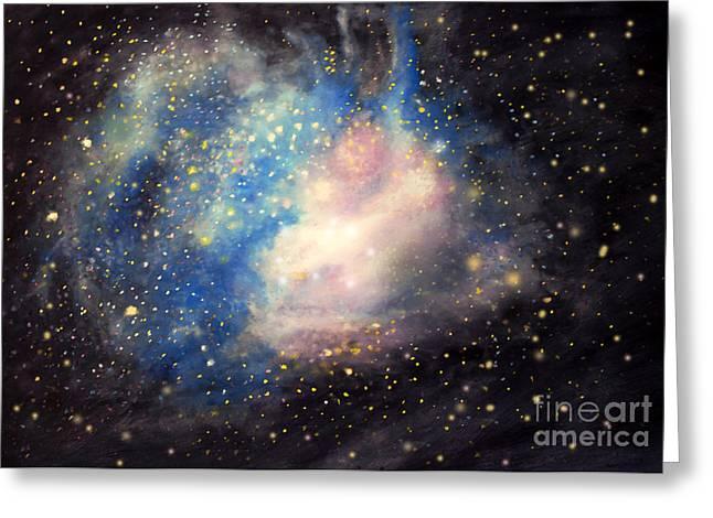 Nebula Ngc 346 Greeting Card by Allison Ashton