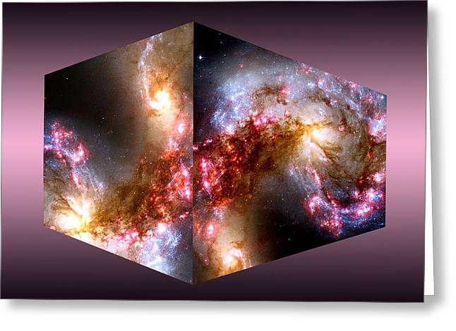 Super Stars Greeting Cards - Nebula Greeting Card by Peter Vaccino