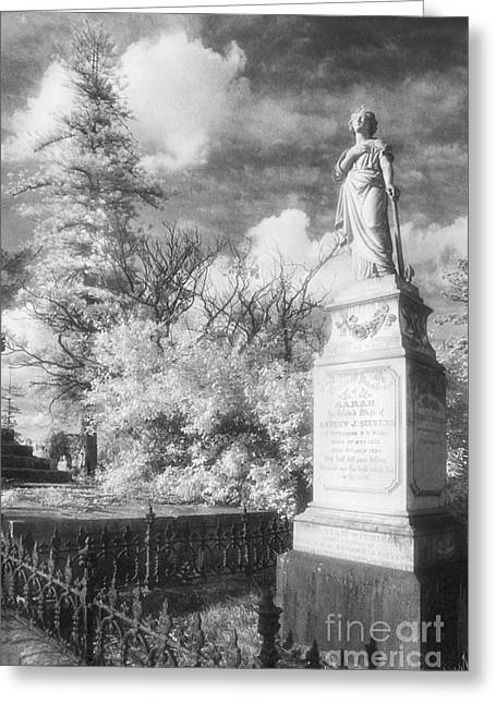 Black Cemetery Greeting Cards - Necropolis 09 Greeting Card by Colin and Linda McKie