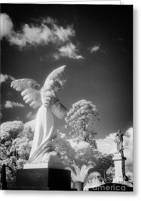 Black Cemetery Greeting Cards - Necropolis 10 Greeting Card by Colin and Linda McKie